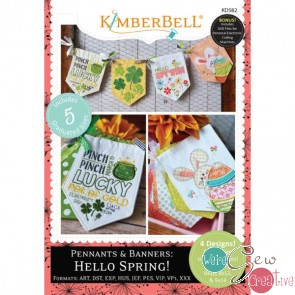 Kimberbell Pennants Banners Hello Spring KD582