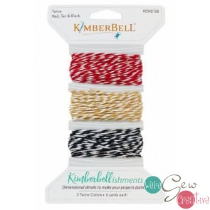 Kimberbell Twine Red Tan Black