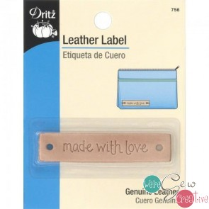 Leather Label Made with Love