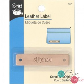 Leather Label STITCHED