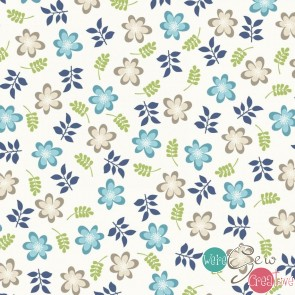 Make Yourself At Home by Kimberbell - Friendly Flowers Soft Blue MAS9392-SWB