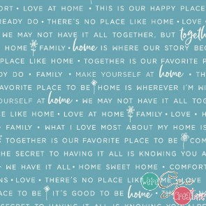 Make Yourself At Home by Kimberbell - Home Phrases Blue MAS9395-B