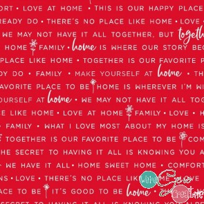 Make Yourself At Home by Kimberbell - Home Phrases Red MAS9395-R