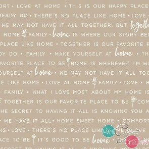 Make Yourself At Home by Kimberbell - Home Phrases Taupe MAS9395-T