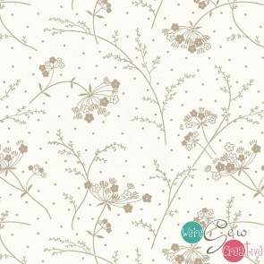Make Yourself At Home by Kimberbell - Queen Annes Lace Taupe MAS9394-SWT