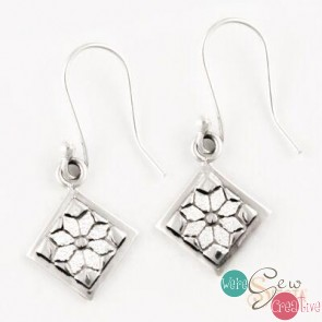 Sterling Silver Dresden Plate Earrings- Mini Hook