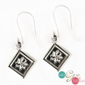 Sterling Silver Lemoyne Star Earrings Mini Hook