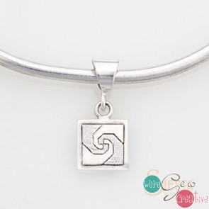 Sterling Silver Snails Trail Pendant Mini Lg Squared Square