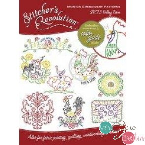 Stitchers Revolution SR23 Folksy Farm Iron-On Embroidery Pattern