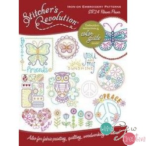 Stitchers Revolution SR24 Flower Power Iron-On Embroidery Pattern