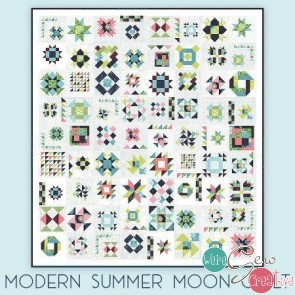 Summer Moon Block of the Month - Modern colorway