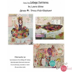 Teeny Tiny Collage Pattern Group 1 by Laura Heine