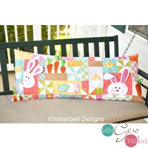 Kimberbell Hoppy Easter Bench Pillow KD191 Sewing Version