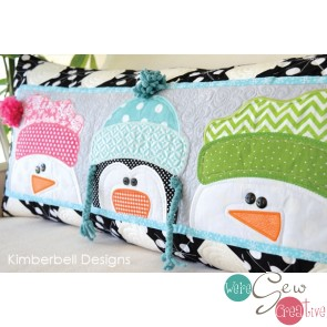 Kimberbell Whimsy Winter Bench Pillow KD514